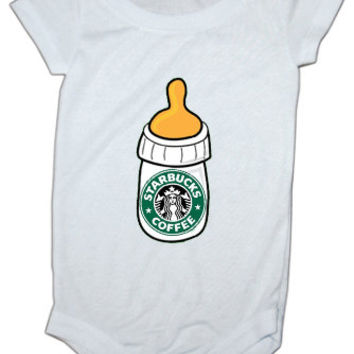 Starbucks bottle baby Onesuit