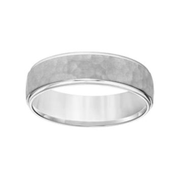 Simply Vera Vera Wang 14k White Gold Men's Wedding Band | Null