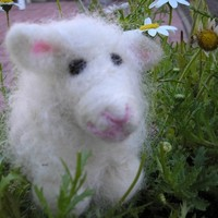 Needle Felted Wool Lamb - Patty