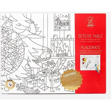 Christmas - Coloring Paper Placemats