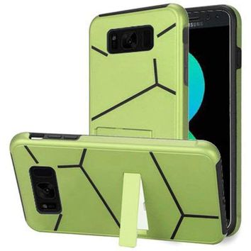 Samsung Galaxy S8 Plus Slim HLX Hybrid Phone Case with Kickstand, Neon Green/Black