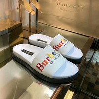 Burberry 2018 summer word drag couple beach shoes sandals non-slip slippers F-RCSTXC