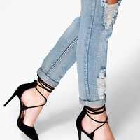 Lucy Pointed Wrap Strap Court