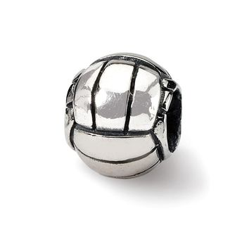 Volleyball Charm in Silver for 3mm Charm Bracelets
