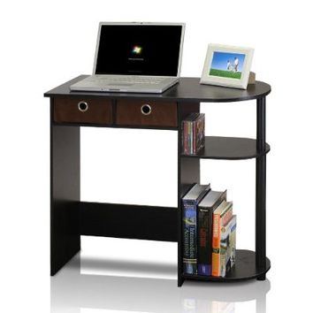 Furinno 11193EX/BK/BR Go Green Home Laptop Notebook Computer Desk/Table, Espresso/Black/Brown