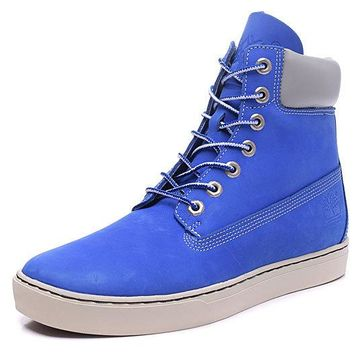 Timberland Rhubarb Boots 6867R Blue For Women Men Shoes Waterproof Martin Boots