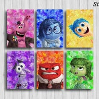 inside out poster of 6 disney wall decor inside out party disney art