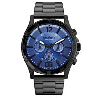 Men's Caravelle New York Black And Blue Chrono Sport Watch
