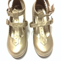 Milky Cross Shoes in Gold from Angelic Pretty (S size)