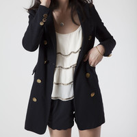 Double Breasted Military Style Coat (Small/Indie Brands)
