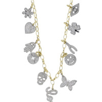 Mini Pave Charm Necklace | Marissa Collections