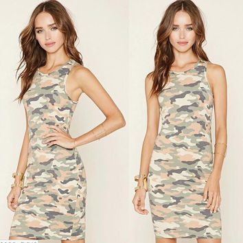 Womens Cosy Camoufla Dress