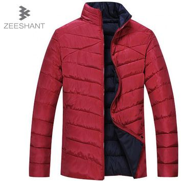 ZEESHANT Brand Clothing Winter Jacket Men Super Big Size Fat Warm Coat 6XL 7XL 8XL Bust Size 150cm Thin Jacket Parkas Hombre