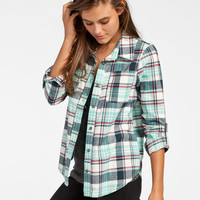 Full Tilt Joey Womens Boyfriend Flannel Shirt Multi  In Sizes