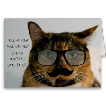 Funny Cat Halloween Card, Cat in Disguise