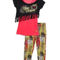 Apple Bottoms Fringe Benefits 2-Piece Outfit (Sizes 7 - 16)