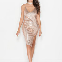 Light Show Sequin Midi Dress