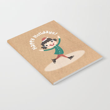 Day 14/25 Advent - Holiday Ice Skating Notebook by lalainelim