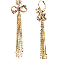 ICONIC PINKALIOUS BOW LINEAR EARRING