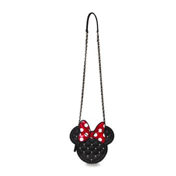Minnie Mouse Die Cut Quilted Crossbody Chain Bag - Bags
