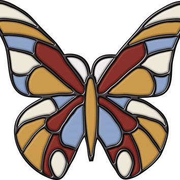 Brewster Wallpaper 99473 Butterfly Stained Glass
