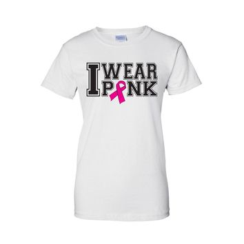 "Juniors Breast Cancer Awareness ""I Wear PINK"" T-shirt"