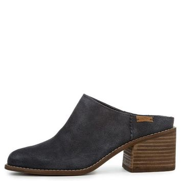DCCKLP2 Toms Leila Forged Iron Grey Suede Women's Mules