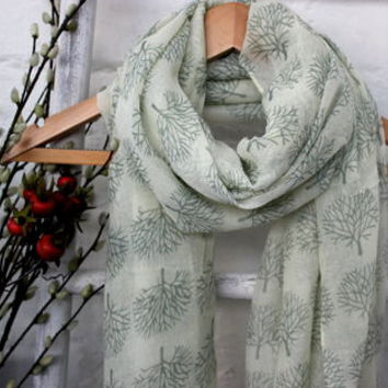 winter trees scarf by the forest & co | notonthehighstreet.com