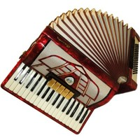 German Galotta, 80 Bass, 8 Registers, Piano Accordion Instrument, 376