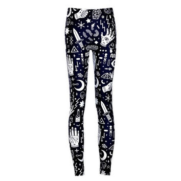 2016 New Arrival Fashion Women Legging Pattern Digital Print Fitness Leggings Sports Pants Punk Trousers Jeggings Drop Shipping [8833620172]