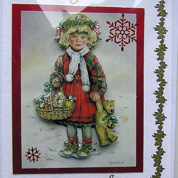 Happy Christmas Hand-Crafted 3D Decoupage Card - Happy Christmas (1516)