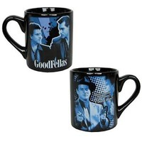 "Goodfellas Tommy DeVito Quote ""What do you mean funny?"" ""Funny how?"" Blue Mug"
