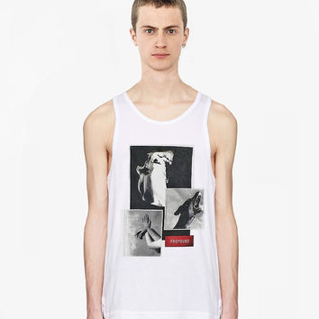 Surreal Exposition Tank Top in White