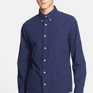 Men's Jack Spade 'Addison' Trim Fit Pin Dot Shirt
