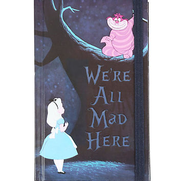 Disney Alice In Wonderland We're All Mad Here Mini Journal