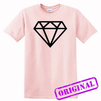 Black Diamond for shirt light pink, tshirt light pink unisex adult