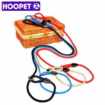 HOOPET Pet Products Golden Teddy Dog Traction Rope Chain Large Dog Collar P Dog Leash Comfortable Nylon Material 5Colors