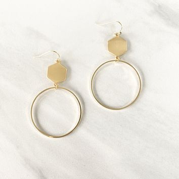 Golden Opportunity Hoop Earrings