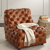 Bernhardt Dunaway Tufted Leather Chair