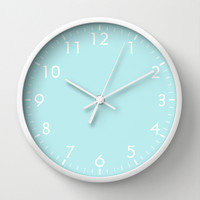 Pastel Turquoise Blue Wall Clock by Beautiful Homes