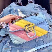 Gucci 2020 new Marmont macaron series bags Rainbow Color