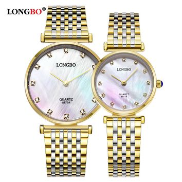Classic Couples Watches Business Style Lovers Men Women Clock Quartz Charms Analog Wristwatches