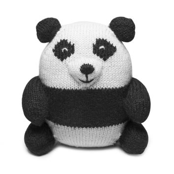 Knit Alpaca Stuffed Panda