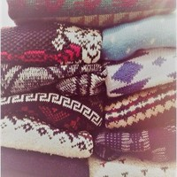Distressed Pattern Mystery Sweaters, All Colors & Sizes