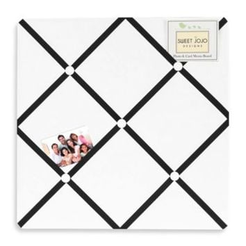 Sweet Jojo Designs Hotel Fabric Memo Board in White/Black