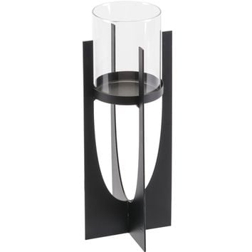 Black Equis Candle Holder, Small