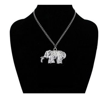 Fashion Elephant Pendant Necklace For Women