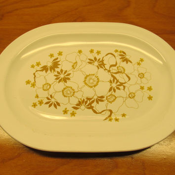 VINTAGE CORNING WARE FLORAL BOUQUET DESIGN SERVING DISH