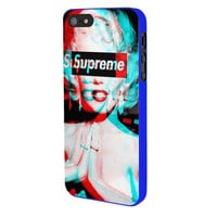 Marilyn Monroe Supreme iPhone 5 Case Available for iPhone 5 iPhone 5s iPhone 5c iPhone 4/4s