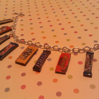 Candy Bar Bracelet Twix Reeses Snickers Kit Kat Musketeers M&Ms Crunch Butterfinger Almond Joy